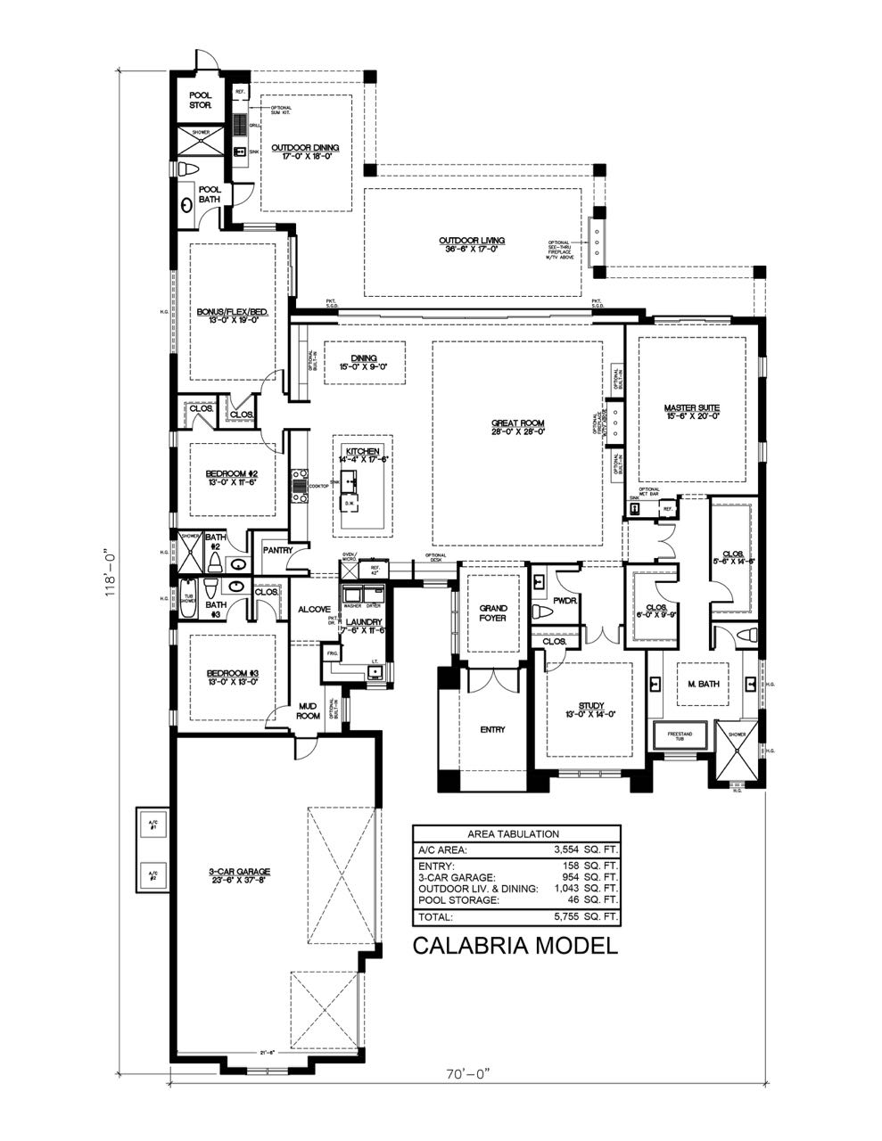 Calabria Floor Plan - Seagate Development Group