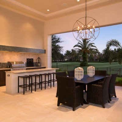 Twilight Outdoor Kitchen