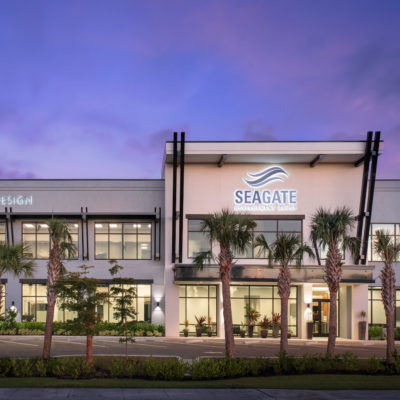 Seagate Office Front Dusk 02